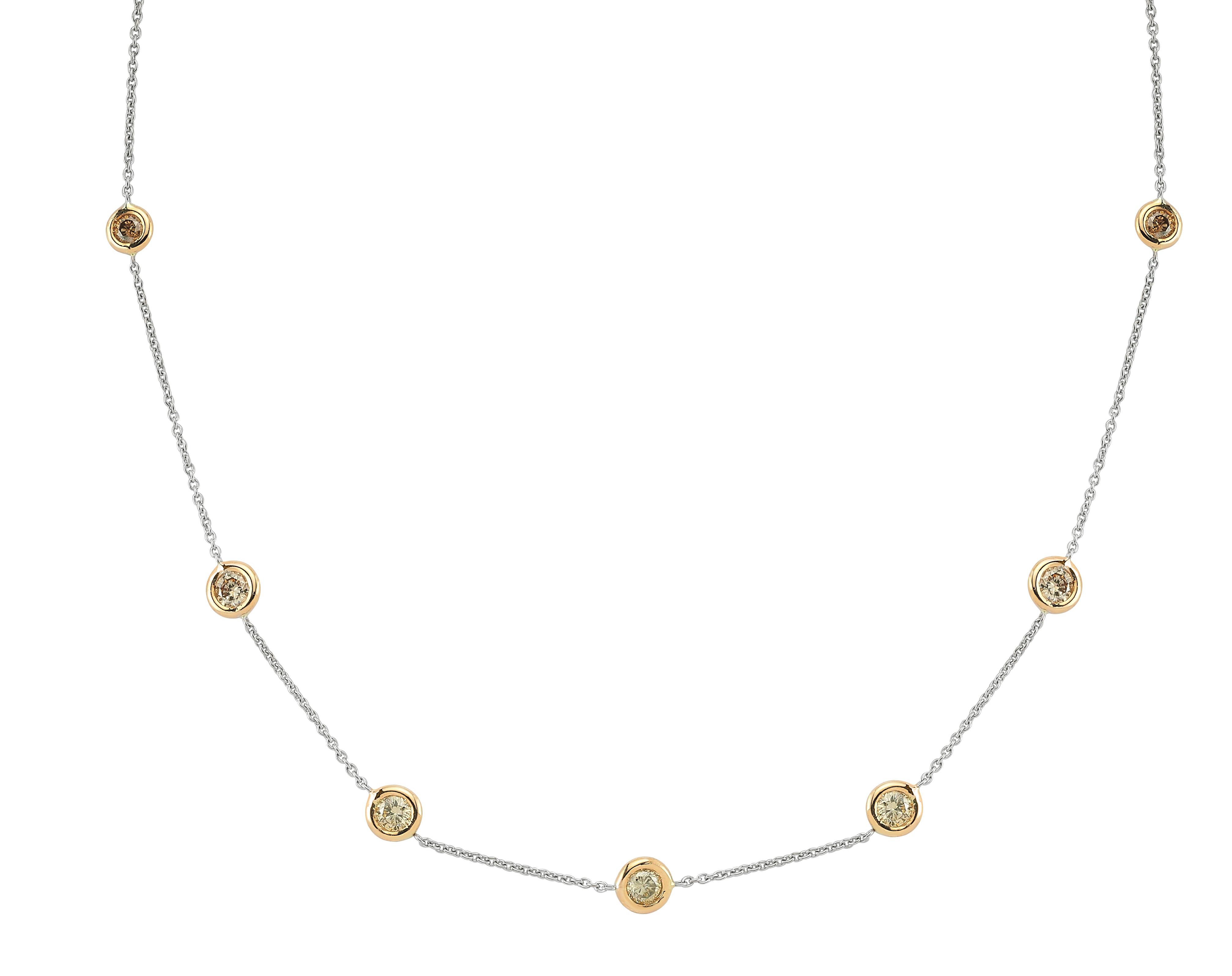 Brown Pırlanta Altın Kolye - 4003003