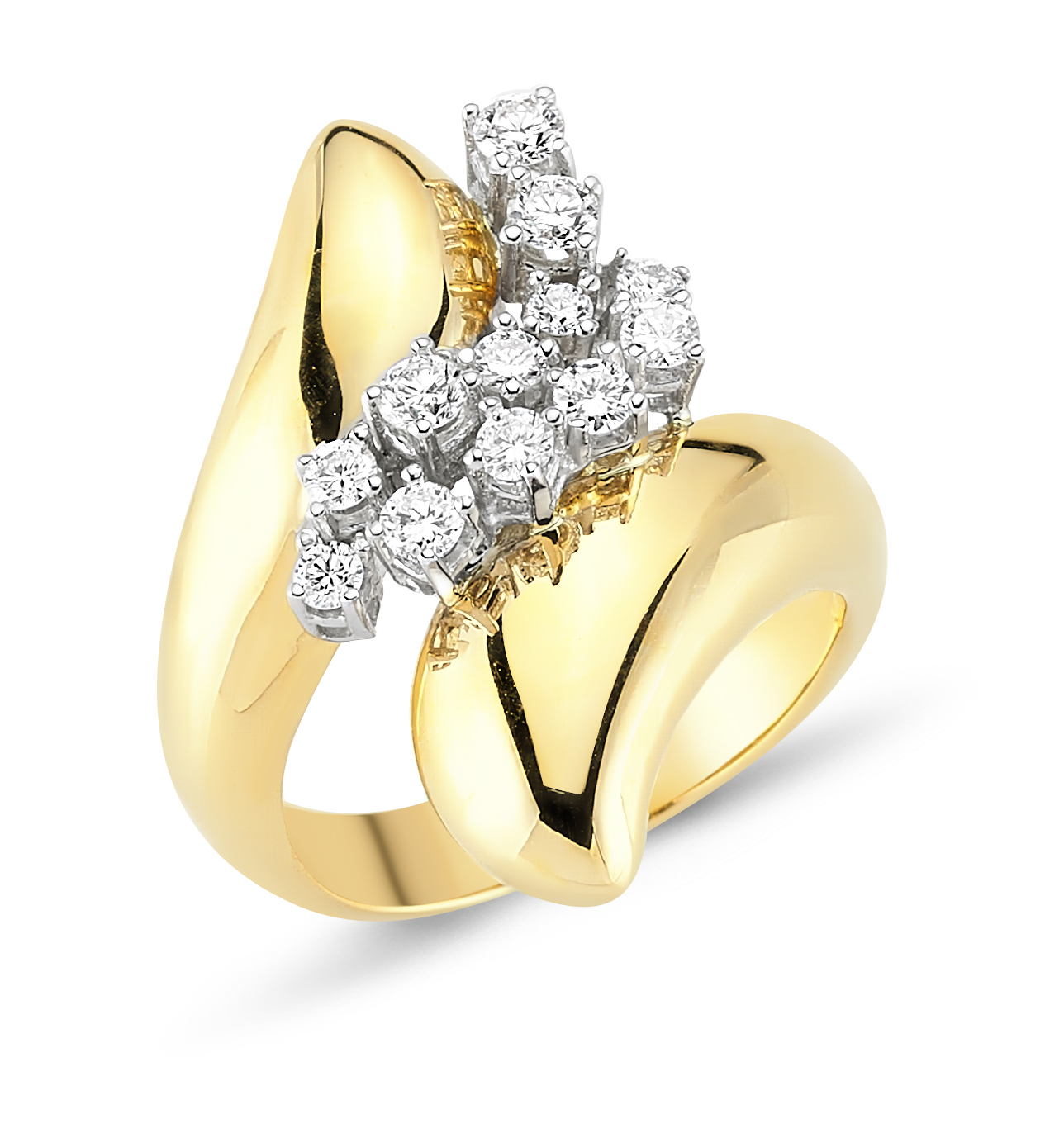 Pırlantalı Altın Yüzük - 6002716