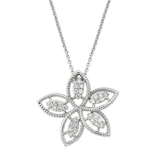 Pırlanta Çiçek Altın Kolye - 4002922