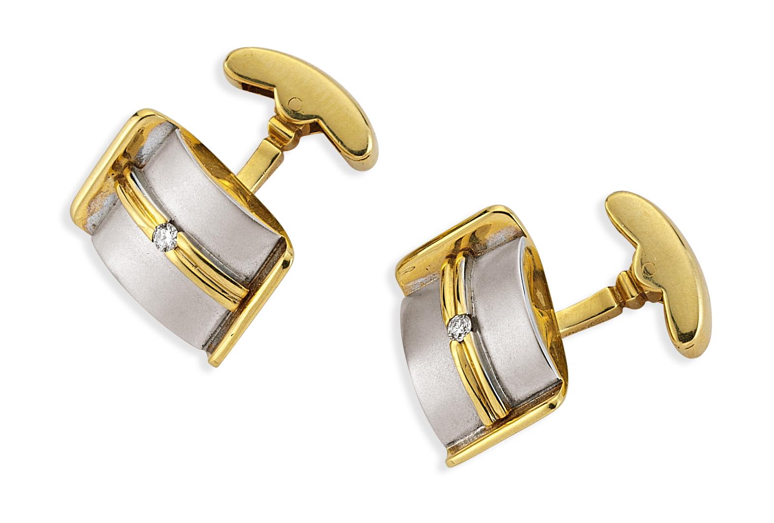 Pırlantalı Altın Kol Düğmesi - 3100003