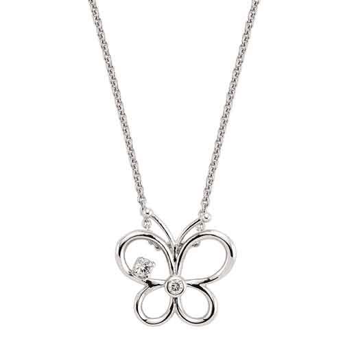 Pırlantalı Kelebek Kolye - 4002551