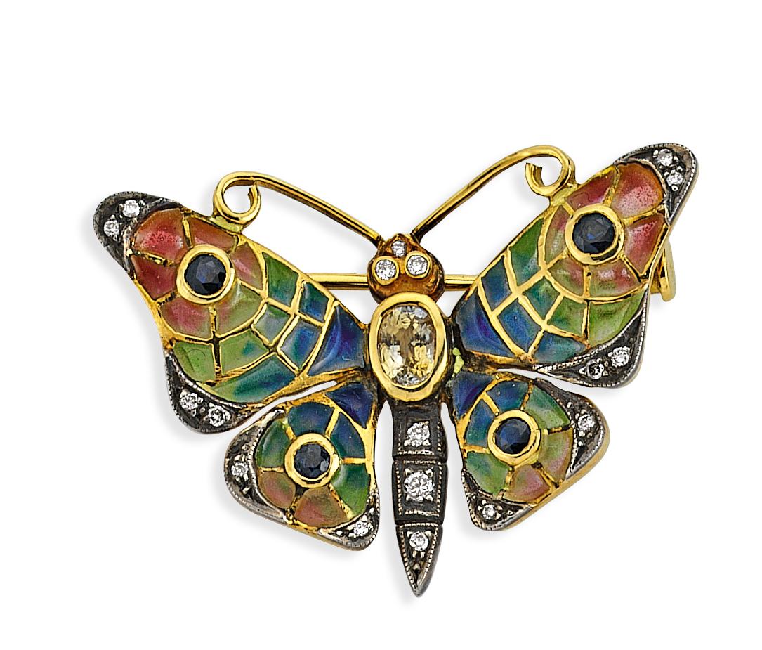 Kelebek Altın Broş - 3000107