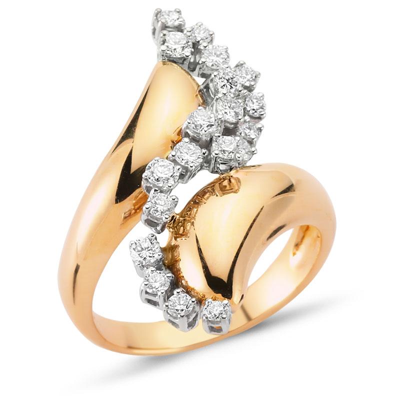 Pembe Altın Pırlanta Yüzük - 6002741