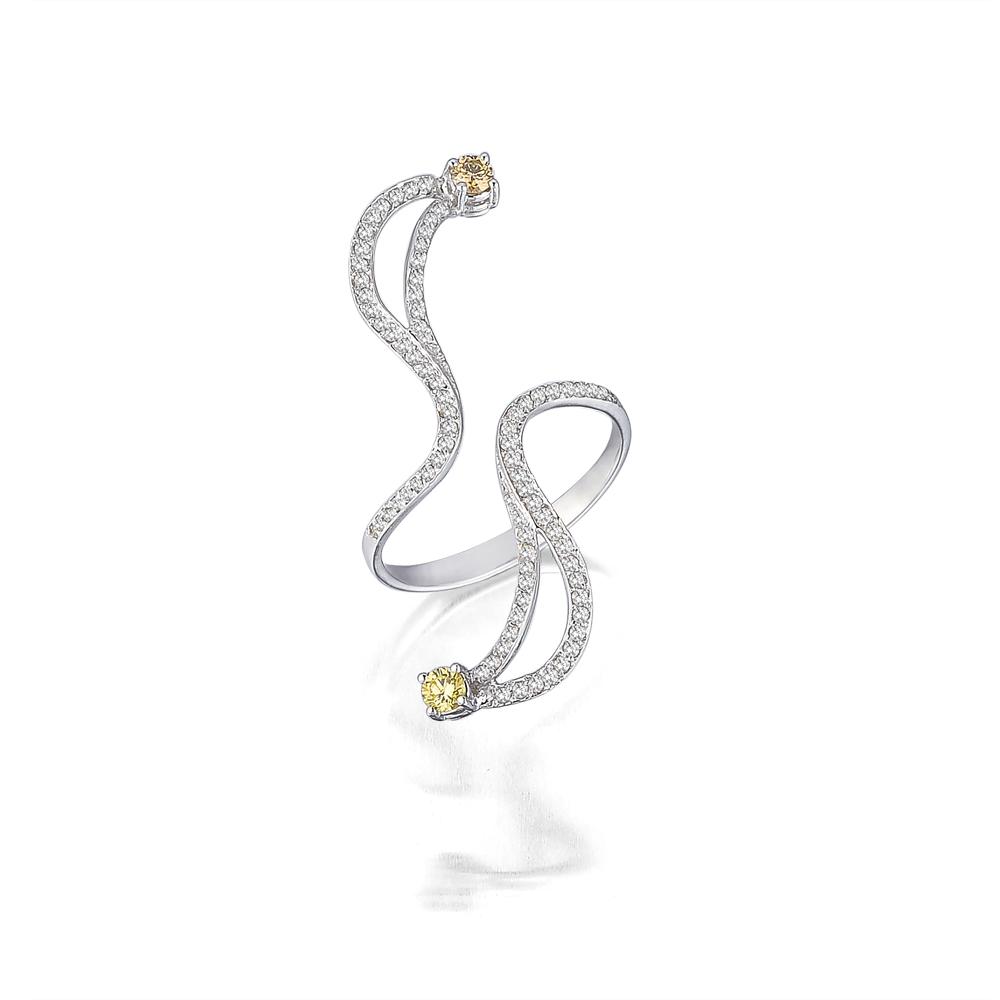 Beyaz Altın Pırlanta Yüzük - 6002952