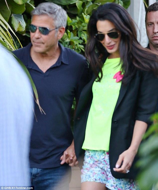 George Clooney nişanlısı ile