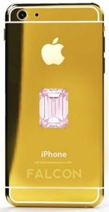 Pembe pırlantalı altın iPhone